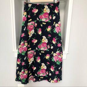 Lauren Ralph Lauren silk floral skirt